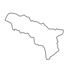 Abkhazia map of black contour curves on white vector