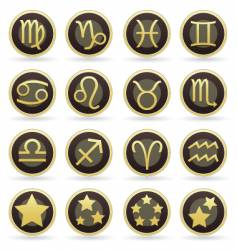 astrology icons vector image vector image
