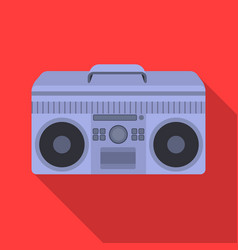 Boombox icon in flat style isolated on white vector