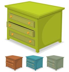 cabinet green set vector image