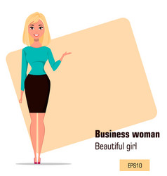character beautiful business woman 02 vector image