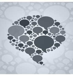 Chat bubble symbol on grey background vector