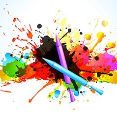 Colorful holi splashes vector
