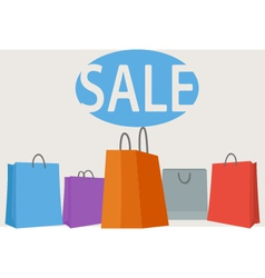 Colorful shopping bags background vector image