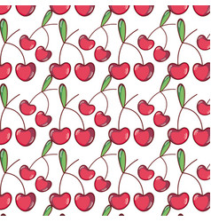 Delicious and fresh tropical cherry fruit vector