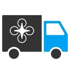 Drone Delivery Van Flat Icon vector image vector image