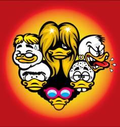 Duck heads vector