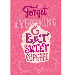 Eat cupcake vector