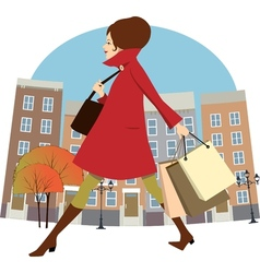 Fall shopping vector image vector image