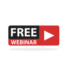 free webinar play online button vector image