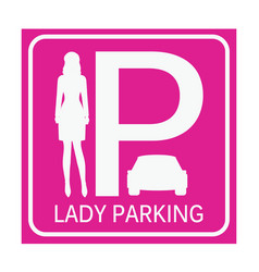 lady parking zone vector image vector image
