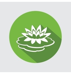 Lily lotus flower icon waterlily floral symbol vector