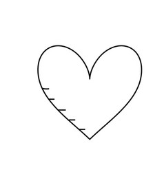 Line heart with love and passion symbol icon vector
