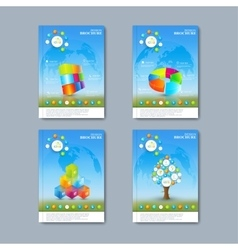 Modern set of brochures in the vector image