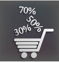 modern shopping background with sales vector image
