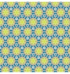 Mosaic circle background Yellow green blue vector image