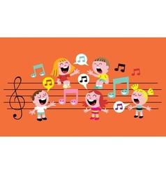 Music kids vector