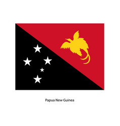 papua new guinea flag - icon vector image vector image