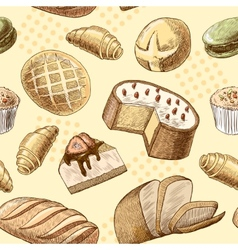 Pastry seamless pattern vector image