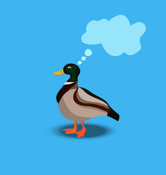 portrait of a cute duck vector image