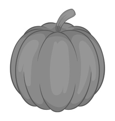 Pumpkin icon black monochrome style vector image