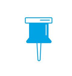 silhouette pin button symbol design icon vector image