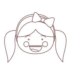 sketch contour smile expression cartoon front face vector image vector image