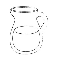 Water pitcher icon vector