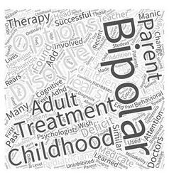 Childhood bipolar disorder word cloud concept vector