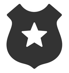 Police shield flat icon vector