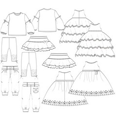 Girls garment vector