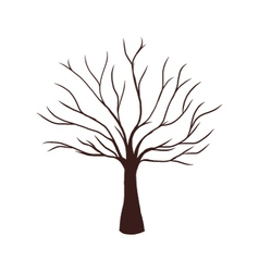 Dead Tree without Leaves vector image