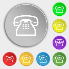 Retro telephone handset icon sign symbol on eight vector