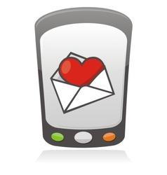 mobile love icon vector image