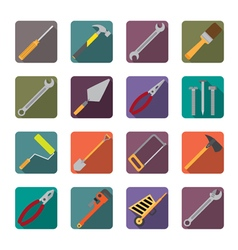 Set of renovation tools icons vector