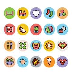 Baby icons 2 vector