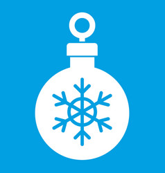 Ball for the christmas tree icon white vector