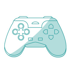 blue silhouette shading control for video games vector image