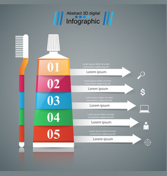 Business infographics toothpaste brush icon vector