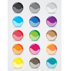 buttons design for the website template vector image vector image