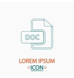 Doc computer symbol vector