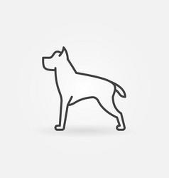 Dog line minimal icon vector