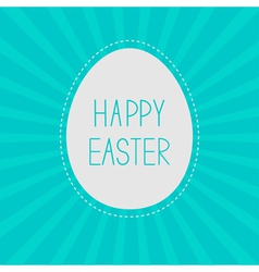 Easter egg Sunburst background Card vector image