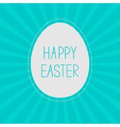Easter egg Sunburst background Card vector image