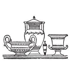Grecian vases is a vessel of various forms and vector