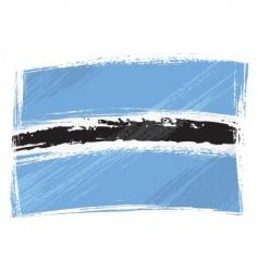 grunge Botswana flag vector image vector image