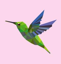 Humming bird low polygon vector image vector image