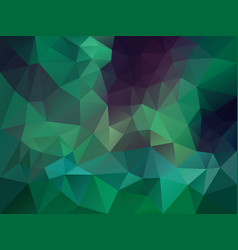 irregular polygon background dark green vector image vector image