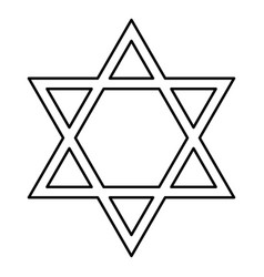 Jewish star of david black color icon vector
