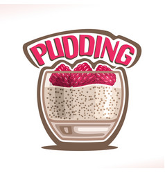 Logo for pudding vector